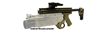 Lancer Tactical CA-08T RAS Platform for EGLM Launcher in Tan