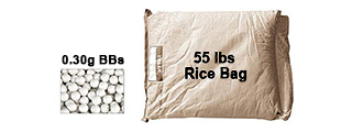 Lancer Tactical CA-107 0.30g BBs Rice Bag - 55 lbs.