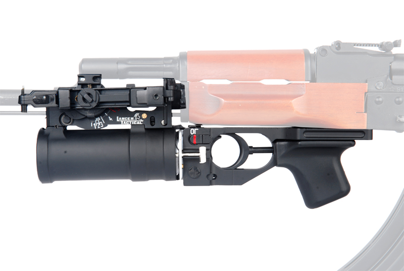 Lancer Tactical CA-10 Mountable AK74U Grenade Launcher, Gas Grenade Shell Included