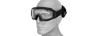 Lancer Tactical CA-201B Airsoft Safety Goggles Basic - Black Frame / Clear Lens