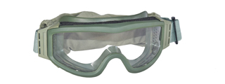 Lancer Tactical CA-201G Airsoft Safety Goggles Basic - OD Green / Clear Lens