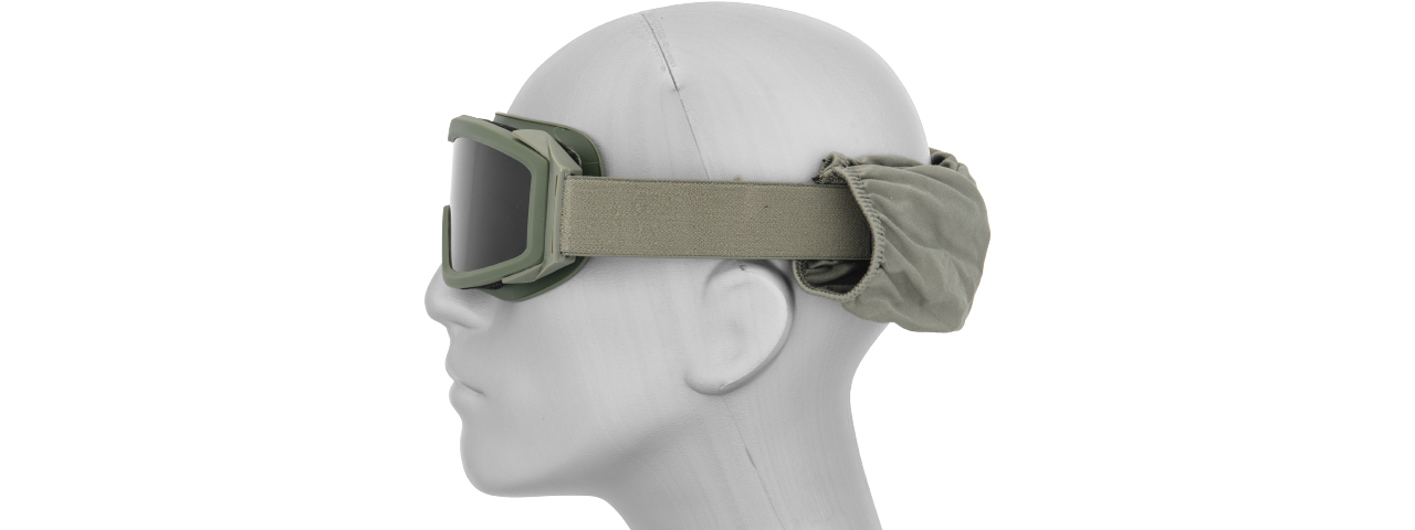 Lancer Tactical CA-203G Airsoft Safety Goggles Basic with Multi Lens Kit - OD Green Frame / Smoke, Clear and Yellow Lens