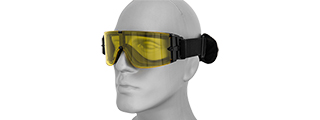 Lancer Tactical CA-234Y Goggles, Single Yellow Lens