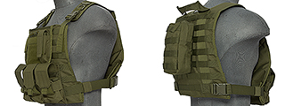 Lancer Tactical CA-301G Molle Plate Carrier Vest in OD