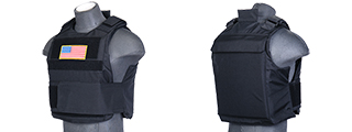 Lancer Tactical CA-302B Body Armor Vest in Black