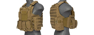 CA-303TN NYLON TACTICAL STRIKE PLATE CARRIER (TAN)