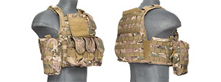 CA-305CN NYLON TACTICAL ASSAULT PLATE CARRIER (CAMO)