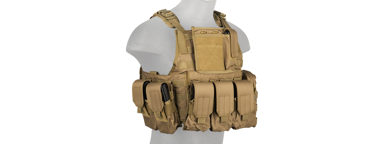 CA-305TN NYLON TACTICAL ASSAULT PLATE CARRIER (TAN)