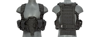 CA-306BN NYLON M4 CHEST HARNESS (BK)