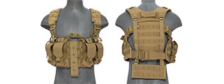 CA-306TN NYLON M4 CHEST HARNESS (TAN)
