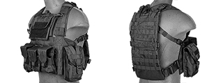 CA-307BN NYLON MODULAR CHEST RIG (BK)