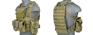 CA-307GN MODULAR CHEST RIG 600D NYLON (OD)