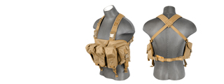 Lancer Tactical CA-308T AK Chest Rig in Tan