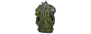 Lancer Tactical CA-310G Cross Draw Vest in OD