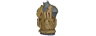 CA-310KN NYLON CROSS DRAW VEST (KHAKI)