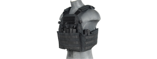 CA-311B2N 1000D NYLON MOLLE AIRSOFT PLATE CARRIER (BLACK)