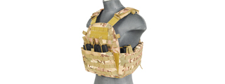 CA-311C2 69T4 PLATE CARRIER w/TRIPLE INNER MAG POUCH (CAMO)