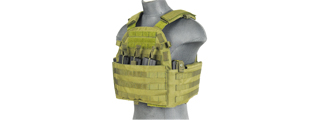 CA-311G2 69T4 PLATE CARRIER w/TRIPLE INNER MAG POUCH (OD GREEN)