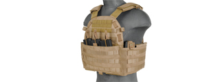 CA-311T2 69T4 PLATE CARRIER w/TRIPLE INNER MAG POUCH (TAN)