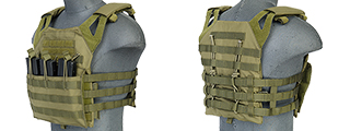 Lancer Tactical CA-312G JPC Jumpable Plate Carrier in OD Green