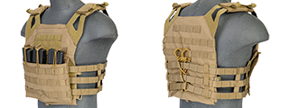 Lancer Tactical CA-312Y JPC Jumpable Plate Carrier (Without Dummy Plates) in Coyote Brown