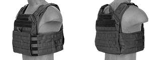 CA-313BN NYLON SPEED ASSAULT PLATE CARRIER (BLK)