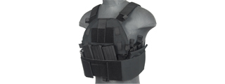 CA-315B SLK PLATE CARRIER w/SIDE PLATE DUAL-MAG COMPARTMENT (BLACK)