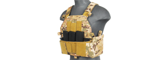 CA-315C SLK PLATE CARRIER w/SIDE PLATE DUAL-MAG COMPARTMENT (CAMO)