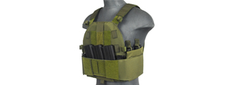 CA-315G SLK PLATE CARRIER w/SIDE PLATE DUAL-MAG COMPARTMENT (OD GREEN)