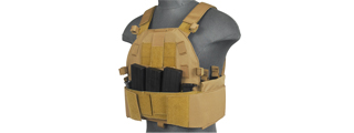 CA-315T SLK PLATE CARRIER w/SIDE PLATE DUAL-MAG COMPARTMENT (TAN)