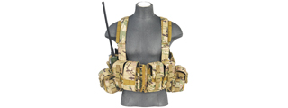 CA-317C T1G LOAD BEARING CHEST RIG w/ZIPPER (COLOR: CAMO)