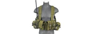 CA-317G T1G LOAD BEARING CHEST RIG w/ZIPPER (COLOR: OD GREEN)
