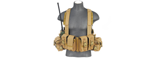 CA-317T T1G LOAD BEARING CHEST RIG w/ZIPPER (COLOR: TAN)