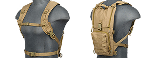 Lancer Tactical CA-321T Light Weight Hydration Pack in Tan