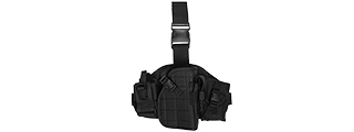 Lancer Tactical CA-324B Molle Platform Drop Leg Holster in Black