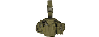 Lancer Tactical CA-324G Molle Platform Drop Leg Holster in OD