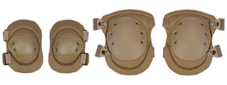 Lancer Tactical CA-329T Tactical Elbow &Knee Pad Set in Tan