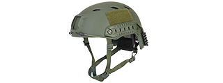 CA-334G ACH BASE JUMP HELMET (COLOR: OD GREEN) (LRG/XL)