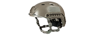 "HELMET ""BJ"" TYPE (COLOR: FOLIAGE GREEN) SIZE: MED/LG"