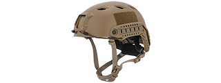 "HELMET ""BJ"" TYPE (COLOR: DARK EARTH) SIZE: MED/LG"
