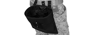 Lancer Tactical CA-341B Large Foldable Dump Pouch in Black