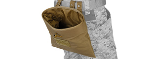 Lancer Tactical CA-341T Large Foldable Dump Pouch in Tan