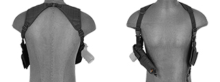 CA-349BN NYLON VERTICAL SHOULDER HOLSTER (BLACK)