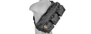 "Lancer Tactical CA-351B Tactical Shoulder ""Go Pack"" Bag, Black"