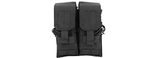 Lancer Tactical CA-358B Dual M4/M16/AK74 Magazine Pouch, Black