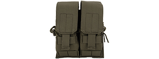 Lancer Tactical CA-358G Dual M4/M16/AK74 Magazine Pouch, OD Green