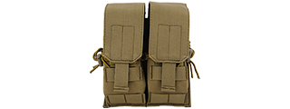 Lancer Tactical CA-358T Dual M4/M16/AK74 Magazine Pouch, Dark Earth