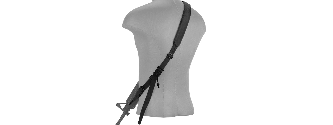 CA-367BN 2-POINT PADDED RIFLE SLING (BK)