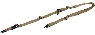 CA-367T 2 POINT PADDED RIFLE SLING (TAN)