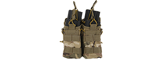 CA-378C MOLLE BUNGEE OPEN TOP QUAD MAGAZINE POUCH (CAMO)